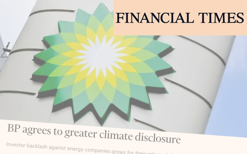 BP agrees to greater climate disclosure