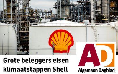 Grote beleggers eisen klimaatstappen Shell