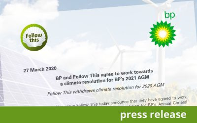 BP and Follow This agree to work towards a climate resolution for 2021