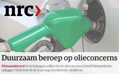 Duurzaam beroep op olieconcerns