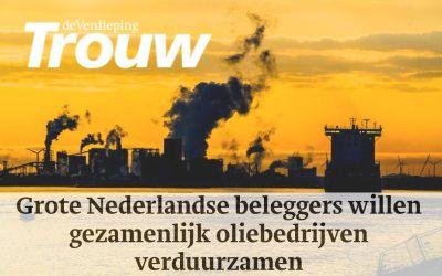 Grote Nederlandse beleggers willen gezamenlijk oliebedrijven verduurzamen